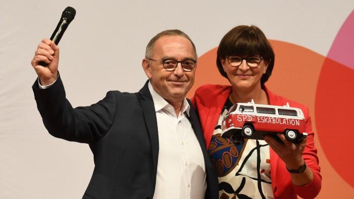 Parteivorsitz: Saskia Esken und Norbert Walter-Borjans haben in der Stichwahl die meisten Stimmen bekommen.