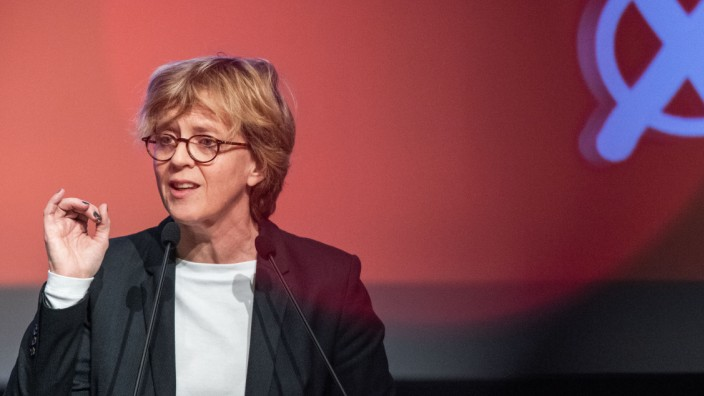 Natascha Kohnen beim Parteitag der Bayern SPD