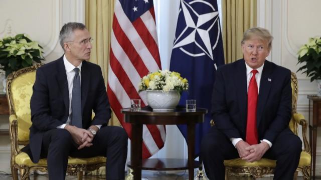 Donald Trump und Nato-Generalsekretär Jens Stoltenberg