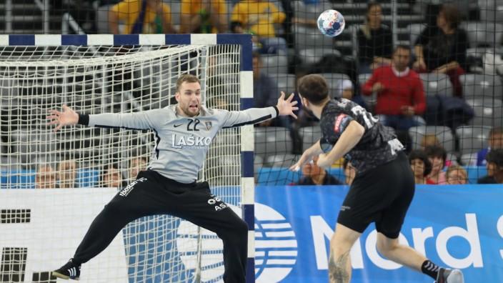 Zagreb, 14.11.2019. - Arena Zagreb hall, 2019/20 EHF Men s Champions League Group Phase. HC PPD Zagreb (black) - RK Cel