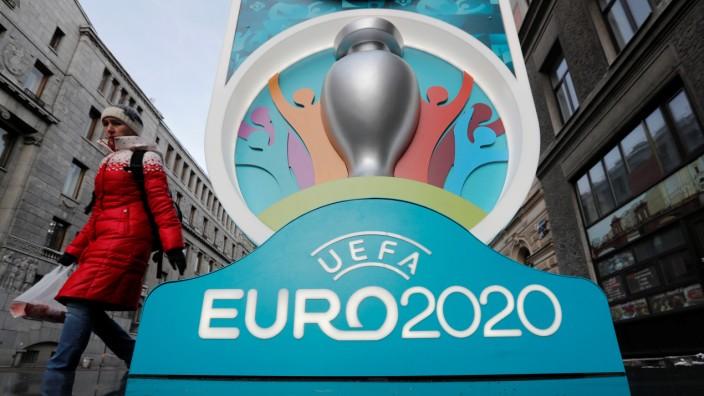 The Euro 2020 countdown clock unveiled in Saint Petersburg