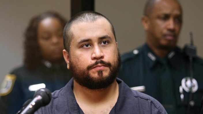 FILE PHOTO: George Zimmerman listens to judge during a first-appearance hearing in Sanford, Florida