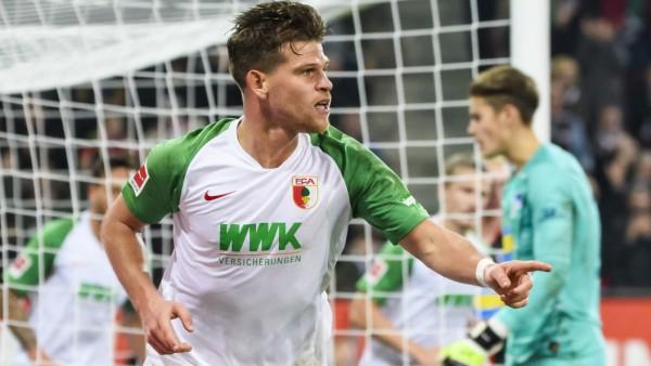 24.11.2019, xkvx, Fussball 1.Bundesliga, FC Augsburg - Hertha BSC Berlin emspor, v.l. Torjubel, Goal celebration, celebr