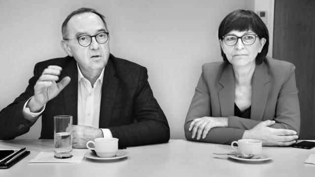 Walter Borjans und Saskia Esken