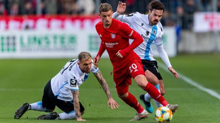Mickaël Cuisance beim Spiel TSV 1860 Muenchen gegen Bayern Muenchen II