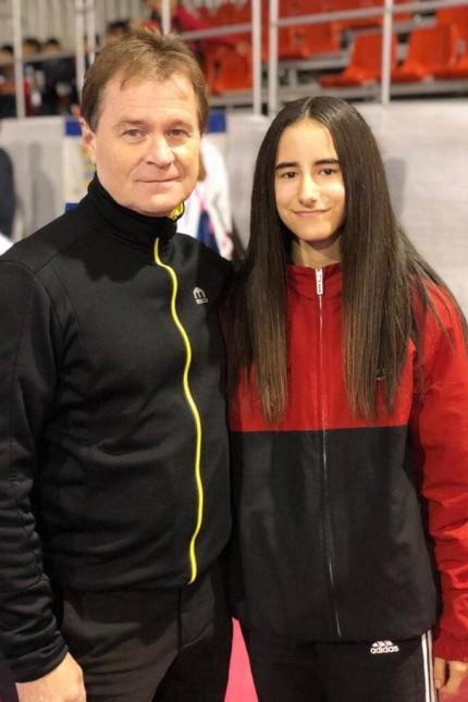 Nur Arayan mit Trainer Reinhard Langer
