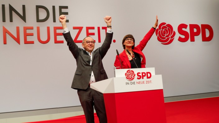 Social Democratic Party (SPD) meeting in Berlin