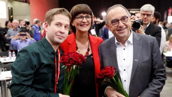 Kühnert Esken Walter-Borjans SPD
