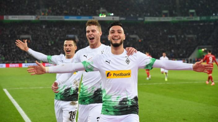 xnjx 07.12.2019; Moenchengladbach; 1. Fussball-Bundesliga; Borussia Moenchengladbach vs. Bayern Muenchen Torjubel nach d