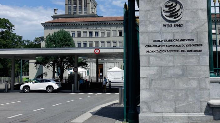 WTO in Genf WTO in Genf 02 08 2019 Genf Rue de Lausanne Schweiz Die Weltorganisation WTO hat ih