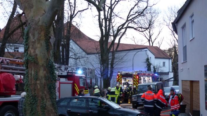 Feuerwehreinsatz in der Ludwig-Dill-Straße