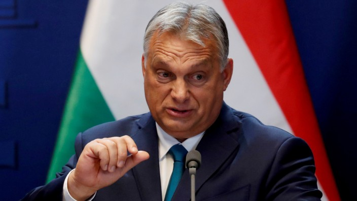 FILE PHOTO: Hungarian Prime Minister Viktor Orban speaks during a news conference in Budapest