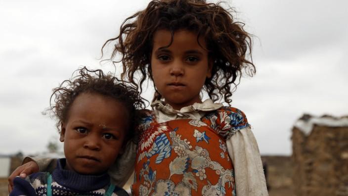 Flüchtlingskinder im Jemen