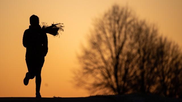 Joggerin am Morgen