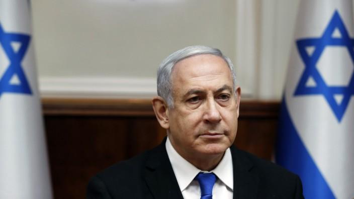 Kabinettssitzung mit Israels Ministerpräsident Natanjahu