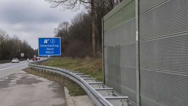 Unterhaching, Taufkirchen, A995, Lärmschutz, Lärmschutzwand,