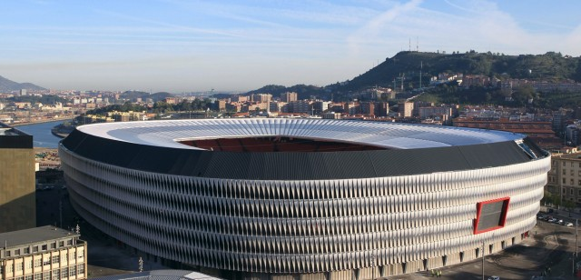 The new stadium of San Mames in Bilbao