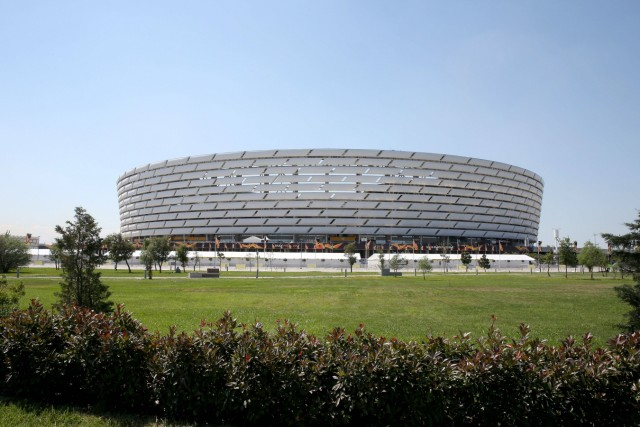 Baku Olympic Stadium during the UEFA Europa League final match between Chelsea FC and Arsenal FC at