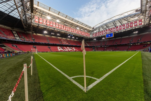 Ajax Amsterdam v Chelsea UEFA Champions League Stadium general view prior to the UEFA Champions League match at Johan Cr