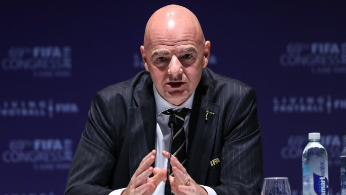 June 5 2019 Paris France GIANNI INFANTINO is re elected president of Fifa during the 69th FIFA; infantino