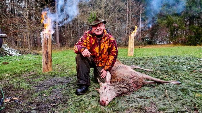 Drückjagd im Ebersberger Forst. Jagen, Jagd