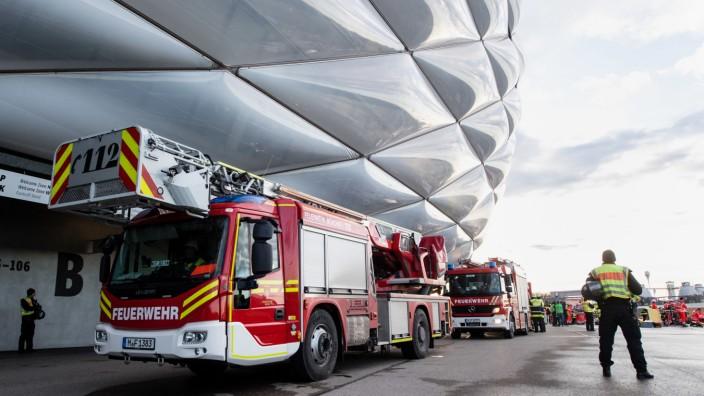 Katastrophenschutzübung zur Fußball-EM 2020 in München