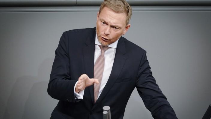 FDP-Chef Christian Lindner spricht im Deutschen Bundestag