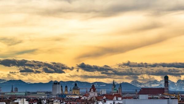 Föhnwetter über München