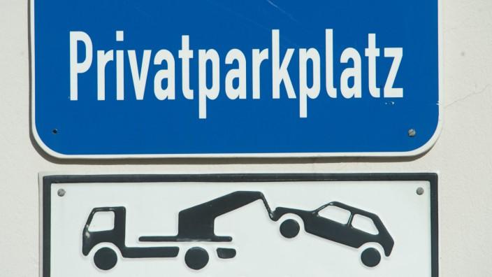 Illustration Privatparkplatz