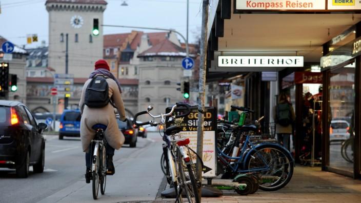 Fahrradweg in München, 2019