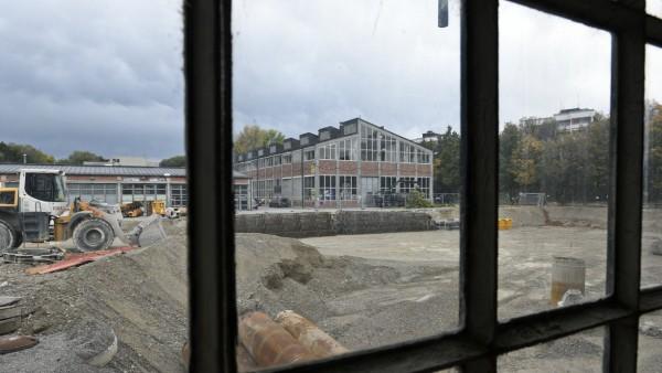 Baustelle Interimsquartier Gasteig, 2019