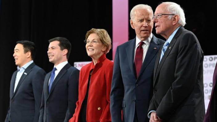 US-Demokraten: Präsidentschaftsbewerber vor einem TV-Duell