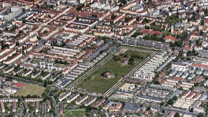 Parkanlage des Stadtpark in Fürth im Bundesland Bayern, Deutschland