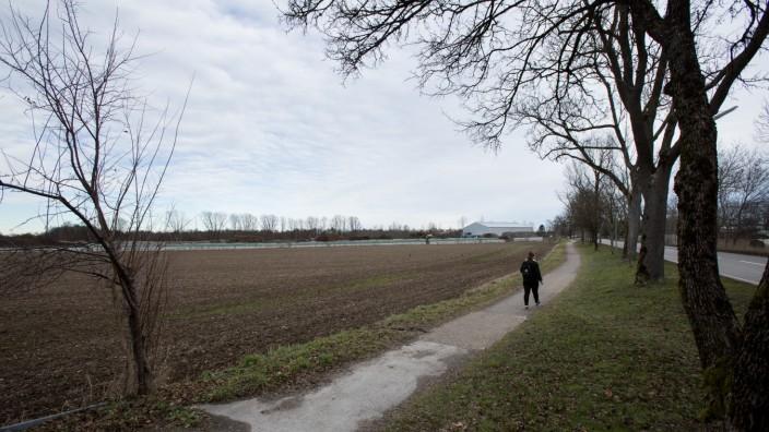 Brachfläche/Wertstoffhof Perlach Nahe Neubiberg südlich der Kompostieranlage. Fasangartenstraße