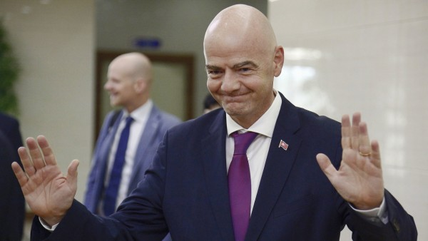 FIFA President Infantino in Pyongyang FIFA President Gianni Infantino arrives at Pyongyang International Airport in the; Gianni Infantino