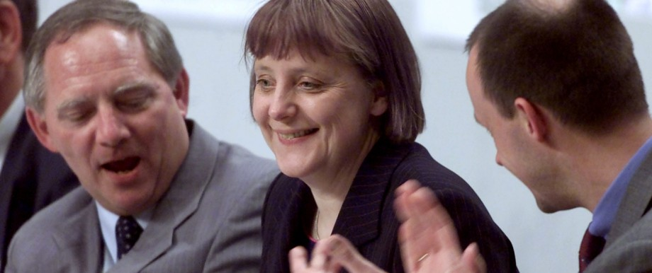 FILE PHOTO: ANGELA MERKEL RECEIVES APPLAUSE AFTER BEING ELECTED AS CDU CHAIRMAN IN ESSEN.