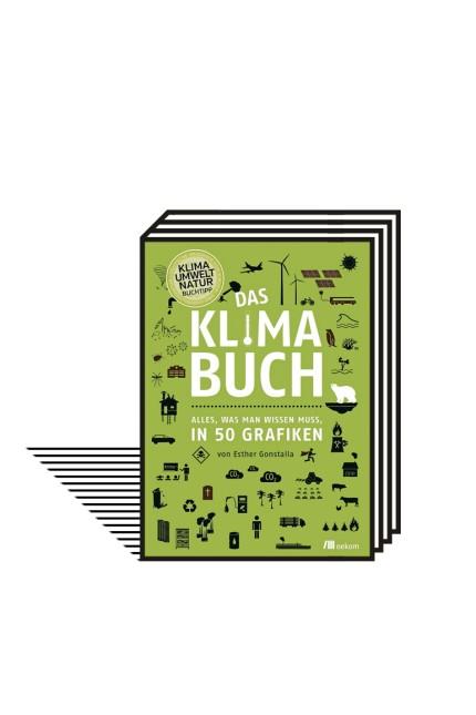 Klimakrise: Esther Gonstalla: Das Klimabuch. Alles, was man wissen muss, in 50 Grafiken. Oekom-Verlag, München 2019. 128 Seiten, 24 Euro. E-Book: 18,99 Euro.