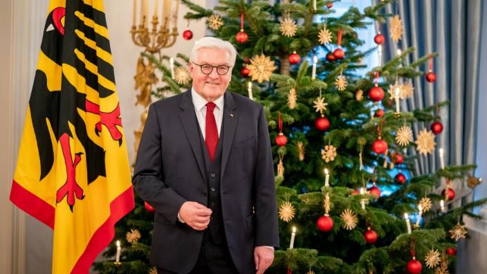 Fototermin zur Weihnachtsansprache des Bundespräsidenten