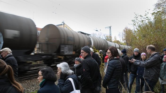 Tunnelspaziergang zum Thema Güterverkehr Trog oder Tunnel, Johanneskirchen