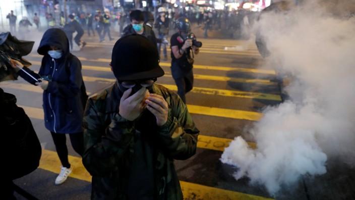 Hongkong Proteste Tränengas