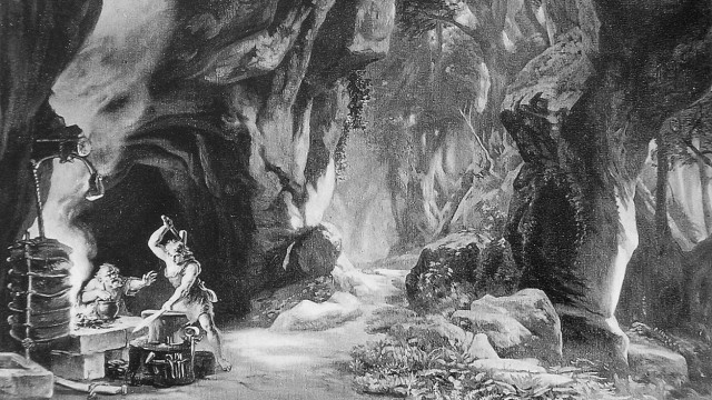 Bühnenbildentwurf von Josef Hoffmann.1876. Artist: Josef Hoffman