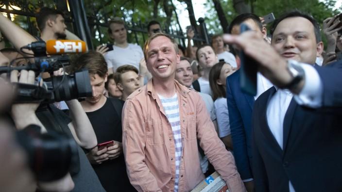 Iwan Golunow, Investigativjournalist aus Russland.