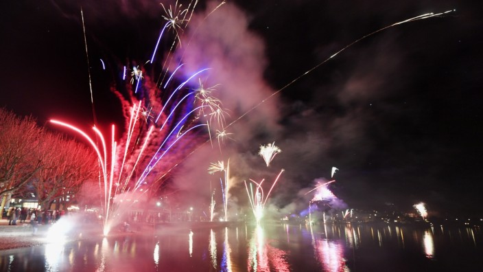 Herrsching, Neues Jahr 2020,  Feuerwerk