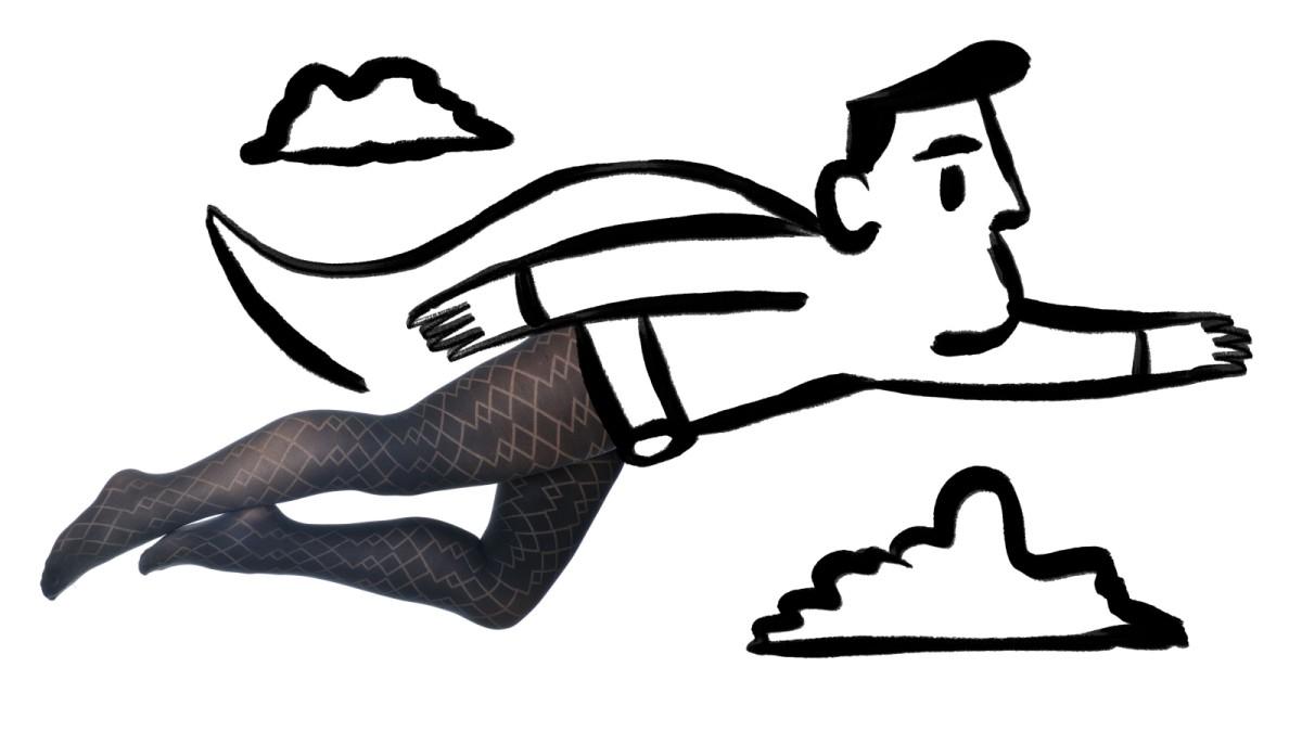 Trägt feinstrumpfhosen mann Feinstrumpfhosen draussen