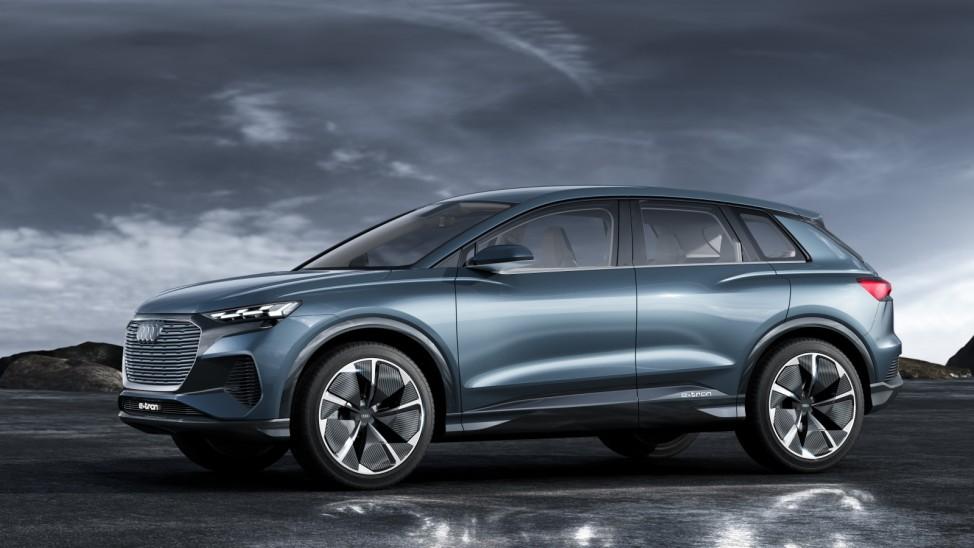 Audi Q4 E-tron Concept, Copyright Audi, Online-Rechte frei.