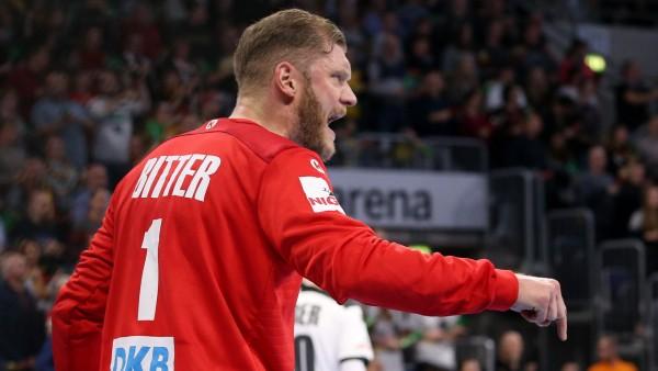 BAU// 04.01.2020 Mannheim Handball Länderspiel Deutschland vs. Island, Johannes Bitter (GER) *** BAU 04 01 2020 Mannheim; Johannes Bitter