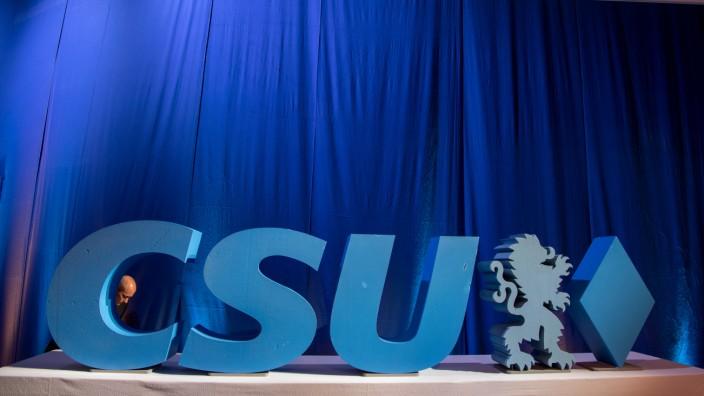 CSU-Parteitag und Wahlkampfkundgebung