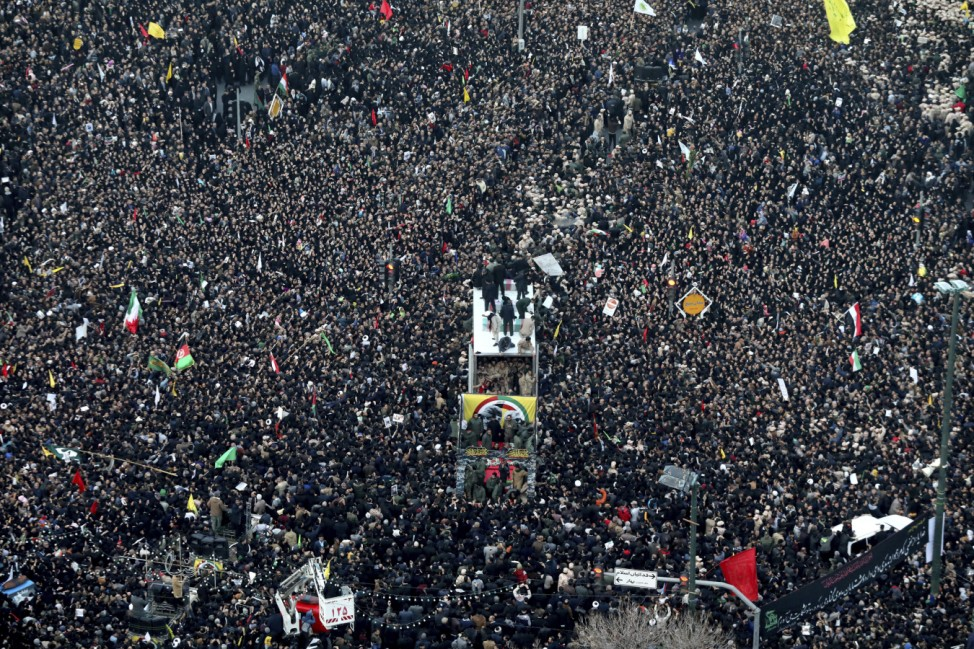 Konflikt Iran-USA - Trauerzug in Maschhad