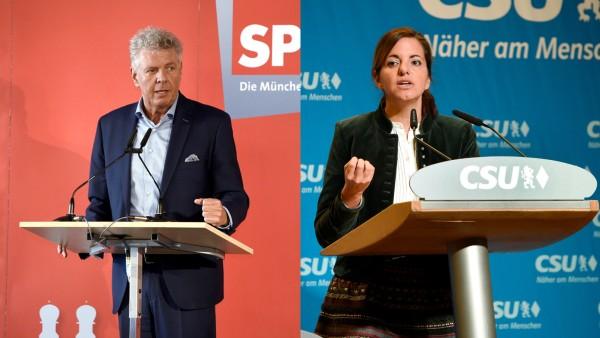 Kristina Frank und Dieter Reiter am Dreikönigstag 2020. Kommunalwahl Bayern 2020.