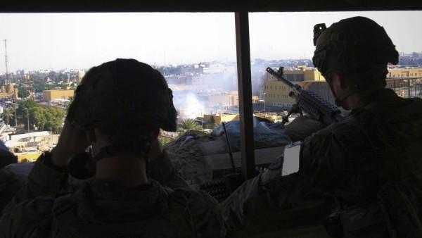 Irak: Soldaten in der US-Botschaft in Bagdad